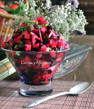 Ensalada vinagret al estilo ruso, receta paso a paso