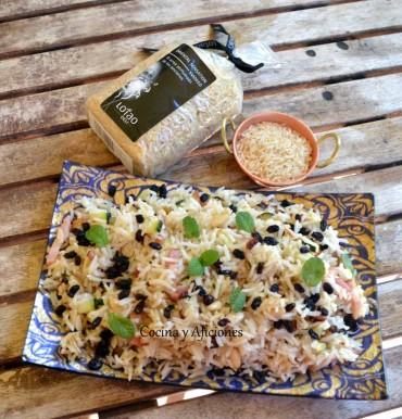 Arroz de grano largo (Oriental Sensation Smoked) salteado, receta sencilla paso a paso.