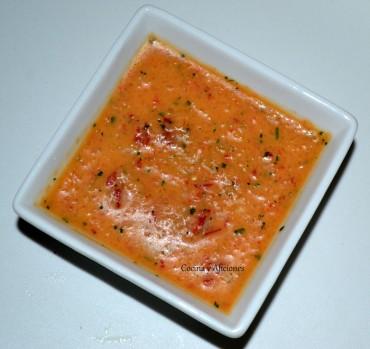 Salsa de chile dulce, receta paso a paso.