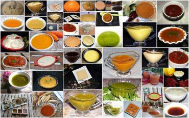 """Indice de las """"53"""" recetas de salsas de Cocina y Aficiones."""
