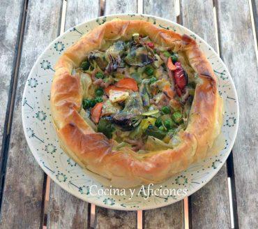 Tarta de verduras, receta paso a paso