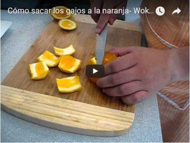 Técnica de cocina: como sacar pelar y sacar los gajos de una naranja