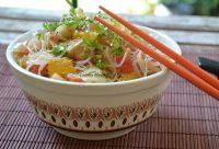 Ensalada de vermichelis con toque oriental, receta paso a paso.
