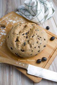 Pan de aceitunas, receta paso a paso.