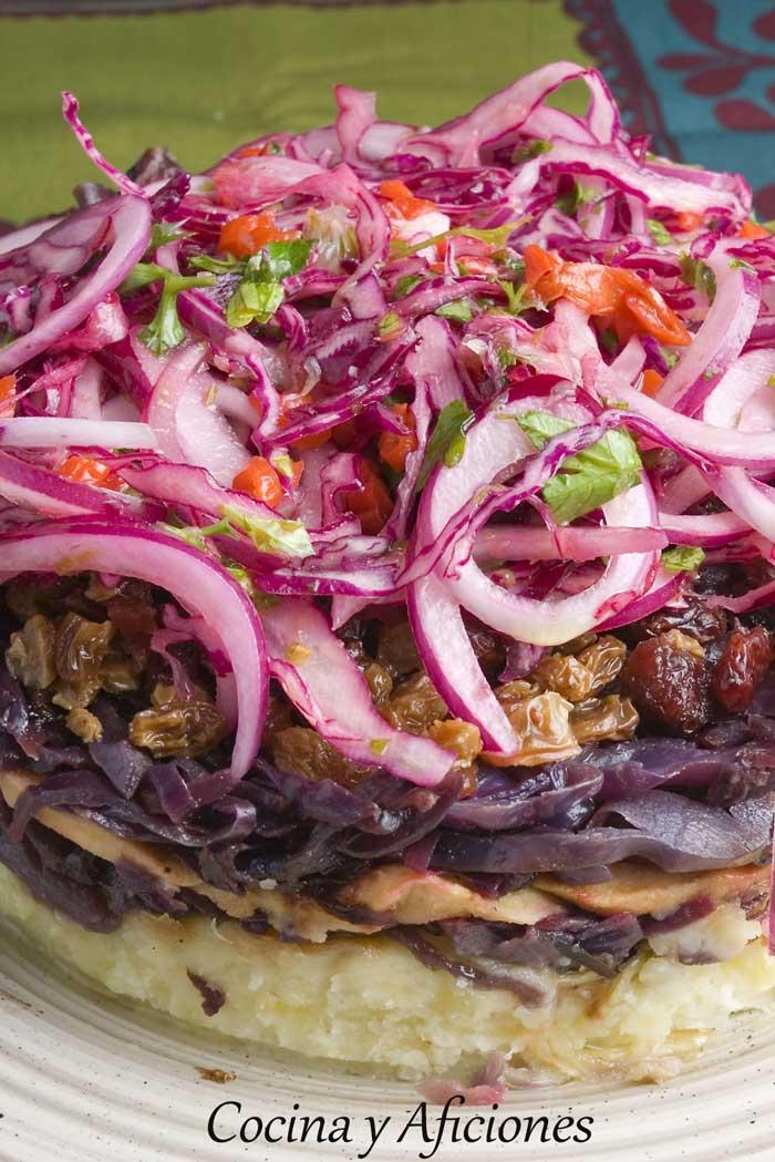 Tarta de lombarda receta paso a paso cocina y aficiones for Cocinar lombarda
