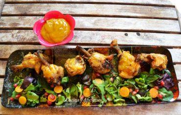 Alitas de pollo con salsa de mango, receta paso a paso.
