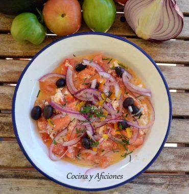 Ensalada de tomate y mozarella, receta muy fresca