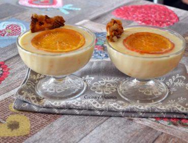 Natillas con naranja aromatizadas con especias, receta paso a paso.