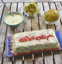 Pastel de rape y langostinos con mahonesa de maracuya, receta paso a paso.