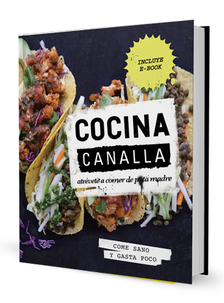 """""""Cocina canalla"""", un libro con sencillas recetas veganas."""