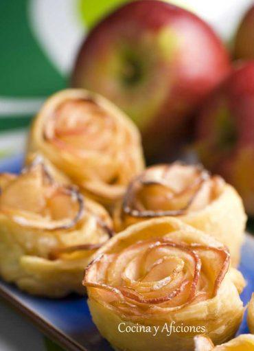 Flores de manzana, receta paso a paso.
