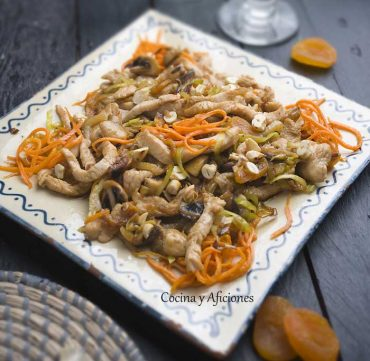 Pavocon orejones y zanahoria paja, receta paso a paso.