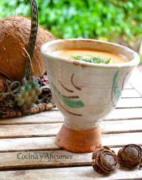 Gazpacho exótico, receta paso a paso.