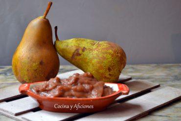 Salsa de pera, receta paso a paso