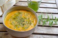 Sopa fría de batata y manzana, receta paso a paso.
