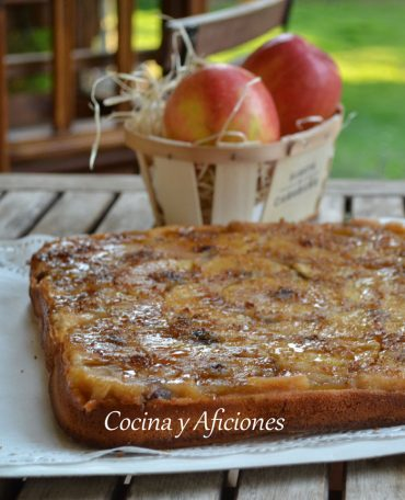 Tarta de manzana súper fácil, receta paso a paso.
