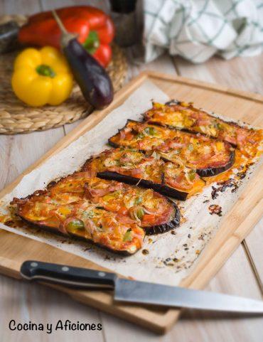 Pizza de berenjenas crujiente, receta paso a paso.