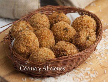 Croquetas de arroz veganas, receta paso a paso