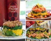 Ensalada o tartares, con salmón o vegano, tu eliges, de alga wakame y AOVE Pago de Espejo, receta paso a paso