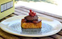Pastel de maracuya con cremoso de chocolate, receta paso a paso.