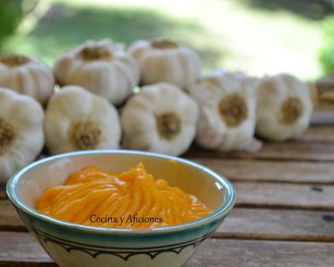 Aliolí de zanahoria, receta paso a paso.