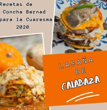 Lasaña de calabaza, dos versiones con dos rellenos: queso y bacalao, receta de Cuaresma.