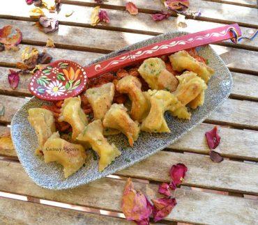 Raviolis al estilo esloveno (idrijskih žlikrofi), receta paso a paso.