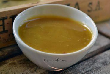 Salsa de mostaza y miel, receta paso a paso.