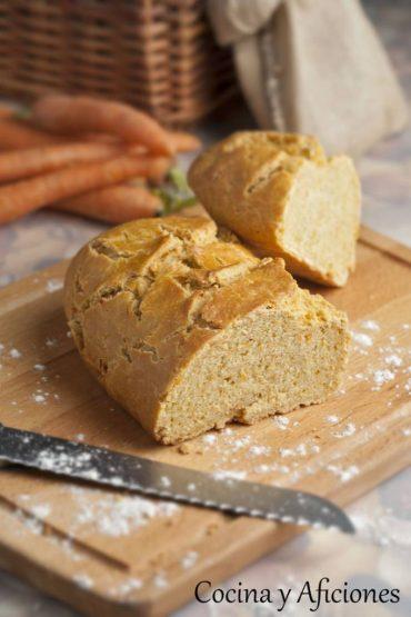 Pan de zanahoria, receta casera paso a paso.