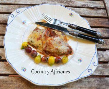Escalopines (filetes) de ternera a la napolitana, una receta deliciosa paso a paso.