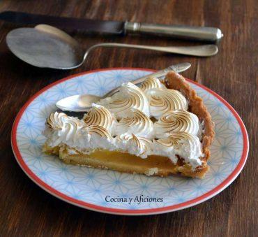 Tarta de limón (lemon curd) y merengue, la receta.