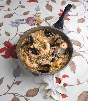 Risotto frutti di mare un arroz digno de un rey, receta paso a paso.