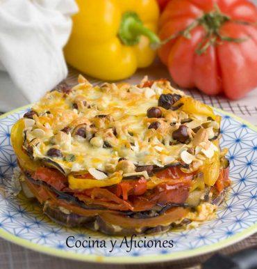 Tarta de verdura y queso, una receta muy colorida paso a paso