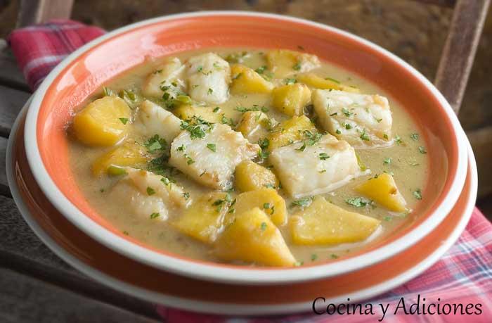 Sopas y guisos cocina y aficiones - Patatas en caldo con bacalao ...