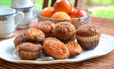 Magdalenas mañaneras con naranjas sanguinas receta para principiantes.