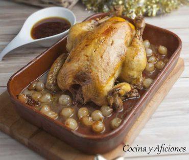 Pollo de corral guisado en vino, una delicia china. Receta paso a paso.