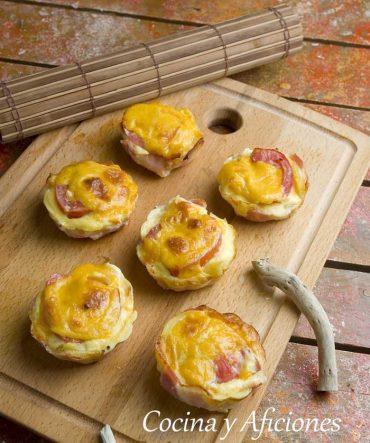 Pastel o mini tortilla de patata acompañamientos, receta molona.
