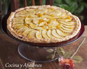 Tarta de manzana y almendras, receta molona y sencilla.