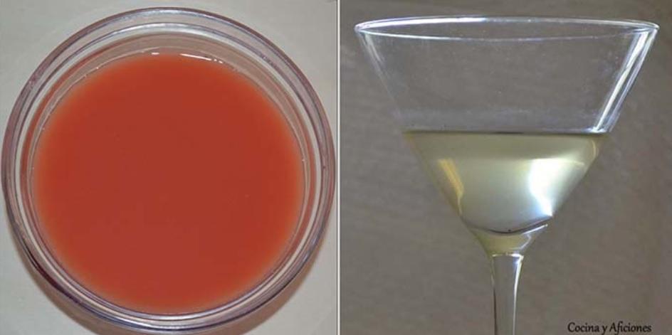 agua de tomate de preparacion lenta y agua de tomate exprés