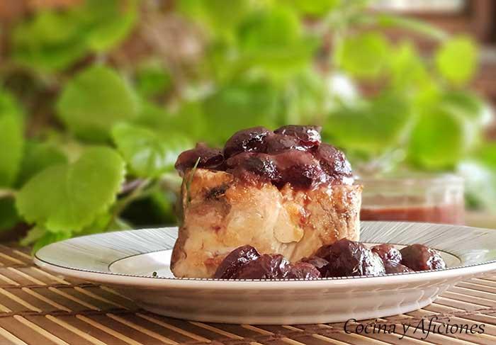 Bonito del norte con salsa de picotas del Jerte y oloroso, receta deliciosa