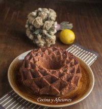 Bizcocho de harina integral con manzana, receta fácil