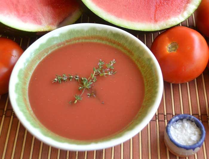 plato con gazpacho