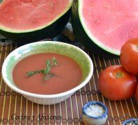 Receta de gazpacho de sandia