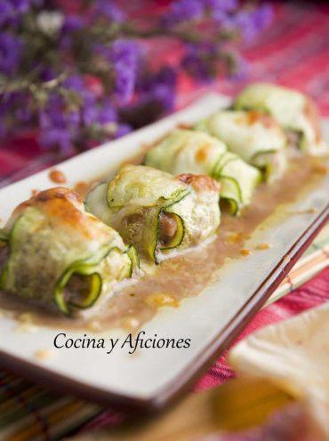 Raviolis de calabacín rellenos de carne, una receta elegante