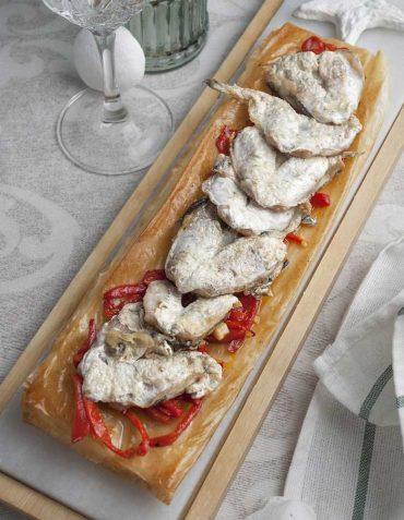 Cocochas de merluza a la plancha sobre crujiente, receta sencilla para las fiestas.