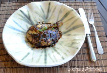 Pollo lacado con cacao y especias, receta de Otoño