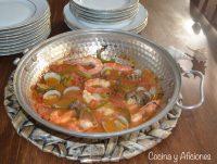 Cataplana portuguesa de bacalao y marisco, receta