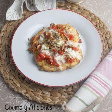 Mila-pizza de lomo, jamón y mozzarella, receta divertida.