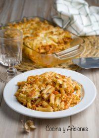 macarrones con carne, tomate y champiñones, receta deliciosa