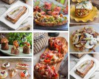 Aperitivos sobre pan: croutes, brouccettas,tostas, costrini, pan de cristal, apuntes y recetas sencillas